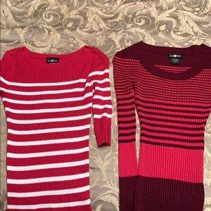 Two sweater/shirts size medium It's Our Time